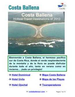 → Hotel Dominical → M apa Costa Ballena