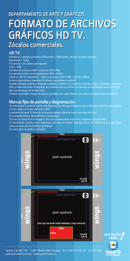 Formato de archivos gráficos HD TV