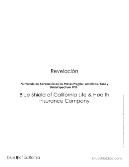 Revelación Blue Shield of California Life & Health Insurance Company