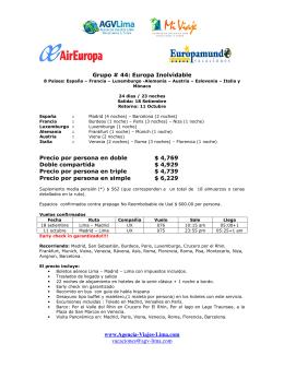 www.Agencia-Viajes-Lima.com vacaciones@agv