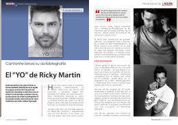 """El """"YO"""" de Ricky Martin"""