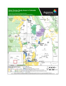 Solar Energy Study Areas in Colorado