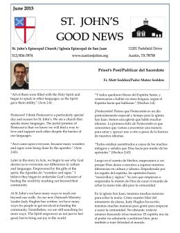 News 6:15 - St. John`s Episcopal Church