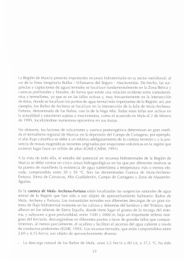 La Región de Murcia presenta importantes recursos hidrotermales