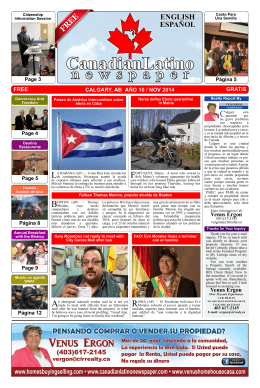 Canadian Latino Newspaper