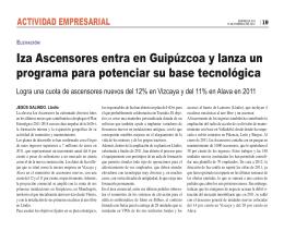 Iza Ascensores entra en Guipúzcoa y lanza un programa para