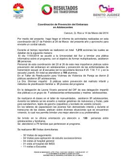 Coordinación de Prevención del Embarazo en Adolescentes