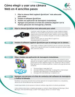 Cómo elegir y usar una cámara Web en 4 sencillos pasos