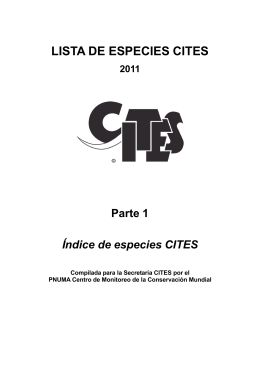 Lista de especies CITES (2011) – Parte 1: Índice de especies CITES