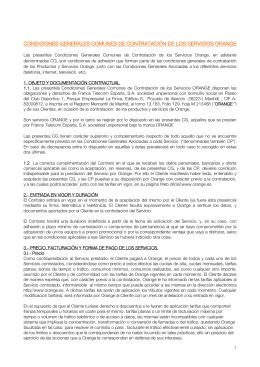 CONDICIONES GENERALES COMUNES DE - Contrato