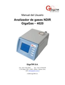 Analizador de Gases - Plantas de Verificación Técnica Vehicular en