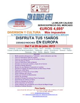 €UROS 4,695* DISFRUTA TUS 15AÑOS