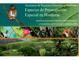 Especies de Preocupación Especial en Honduras