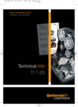 Technical Info TI 1-25