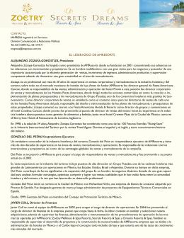 EL LIDERAZGO DE AMRESORTS