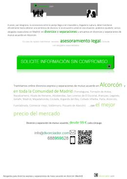 Divorcio express Alcorcón 99 € cónyuge