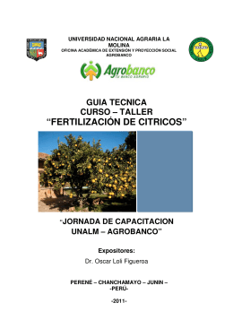 """FERTILIZACIÓN D ""FERTILIZACIÓN DE CITRICOS"