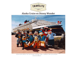 Alaska Cruise en Disney Wonder