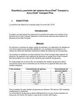 Exactitud y precisión del sistema Accu-Chek Compact y Accu