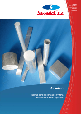 Aluminio - SANMETAL, SA