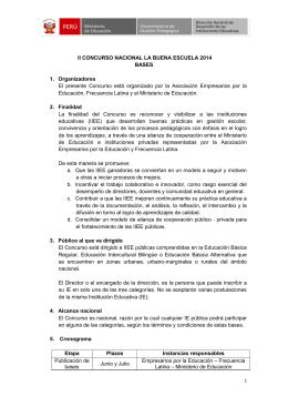 La buena escuela - Ministerio de Educación del Perú