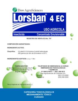 Ficha Técnica Lorsban 4 EC