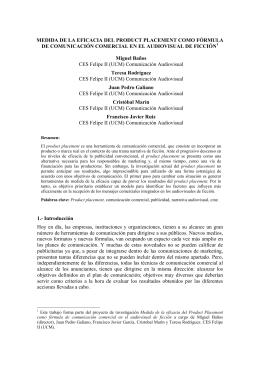 MEDIDA DE LA EFICACIA DEL PRODUCT