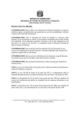 RESOLUCION 8-01, Crea tasa para la emisión del certificado o