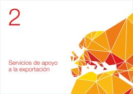2. Servicios de apoyo a la exportación