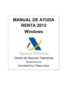 MANUAL DE AYUDA RENTA 2013 Windows