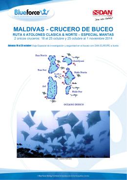 MALDIVAS - CRUCERO DE BUCEO
