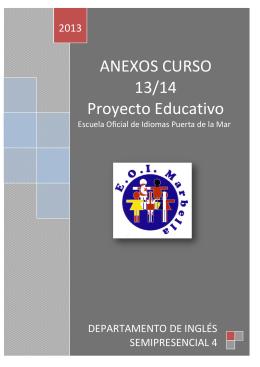 ANEXOS CURSO 13/14 Proyecto Educativo