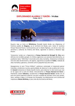 EXPLORANDO ALASKA Y YUKÓN - 14 días