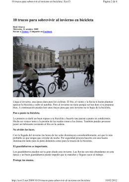 10 trucos para sobrevivir al invierno en bicicleta