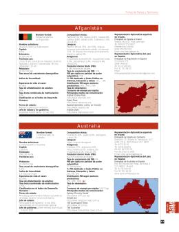 Fichas de Países y Territorios - Anuario Asia
