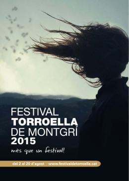 programació - Festival de Torroella de Montgrí