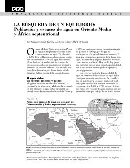 Población y escasez de agua - Population Reference Bureau