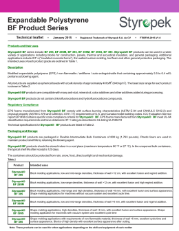 Expandable Polystyrene BF Product Series