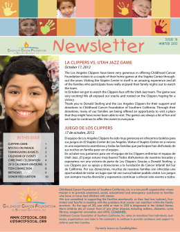 Newsletter Issue 14 - Childhood Cancer Foundation of Southern