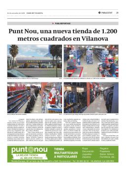 Punt Nou, una nueva tienda de 1.200 metros cuadrados en Vilanova