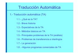 Traducción automática (TA)