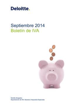 Septiembre 2014 Boletín de IVA