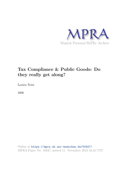 Tax Compliance & Public Goods - Munich Personal RePEc Archive