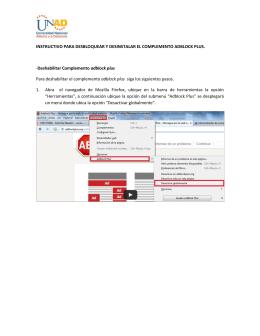 Deshabilitar Complemento adblock plus Para deshabilitar