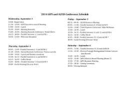 2014 IAPS and ALFiD Conference Schedule