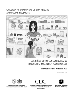 children as consumers of commercial and social products los niños