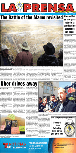 Uber drives away - La Prensa De San Antonio