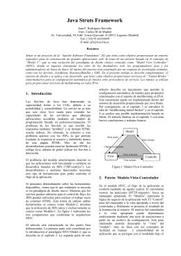 Java Struts Framework - Juan Fco. Rodríguez Hervella