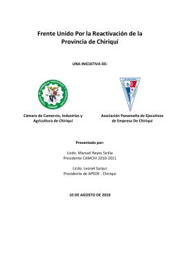 Informe Ejecutivo Frente Unido CAMCHIAPEDEFU