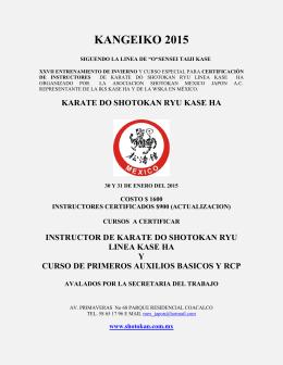 KANGEIKO 2015 - Asociación Shotokan Mexico Japón